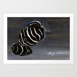 Juvenile Emperor Angel Fish Art Print