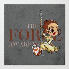 Rey The Force Awakens Canvas Print