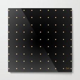Black & Cream Polka Dots Metal Print