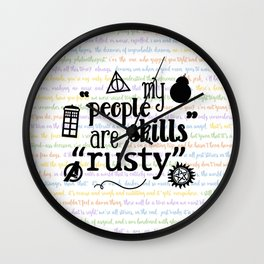 "My ""People Skills"" are ""Rusty"" Wall Clock"