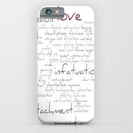 Love Word Cloud iPhone Case