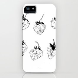 strawberries forever iPhone Case