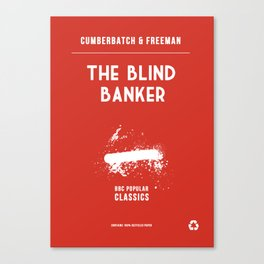 BBC Sherlock The Blind Banker Minimalist Poster Canvas Print