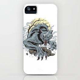 Spooky Horor Wolf Halloween iPhone Case