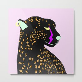 PUNK CHEETAH Metal Print