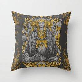 IBERIAN HECATE gray Throw Pillow