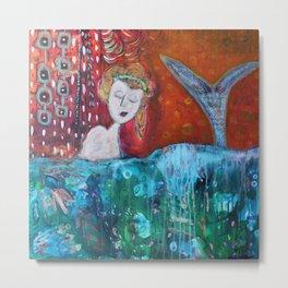 Mermaid's Day Off Metal Print