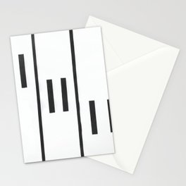 Falling Piano Keys Stationery Cards