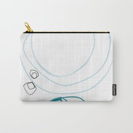 Blue Abstract Circles Minimalist Line Art Carry-All Pouch