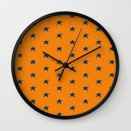 Lazy Stars (Tangerine/Blueberry) Wall Clock