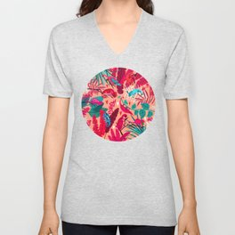 Love is in the Jungle Air Unisex V-Neck