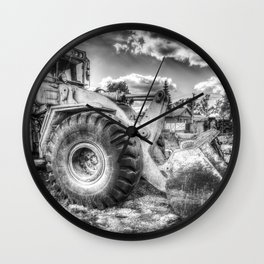 Bulldozer Machine from Earth Wall Clock