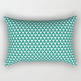 Green Triangle Geometric Patterns Rectangular Pillow