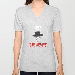 Encourage People Advice Tshirt Design BAD ADVICE Unisex V-Neck