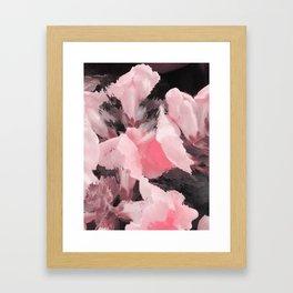 Light Pink Snapdragons Abstract Flowers Framed Art Print