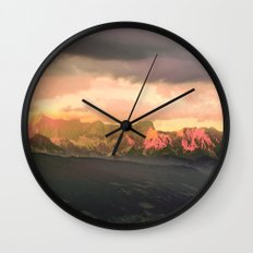 Escaping  -  Mountains - Dachstein, Austria Wall Clock