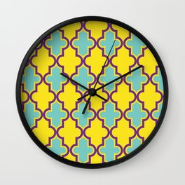 Patterned QuatreFoil Wall Clock