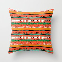 Drops of red paint Throw Pillow