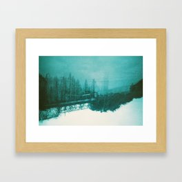 winter haze Framed Art Print