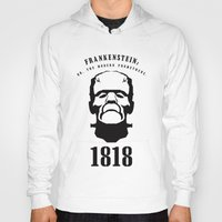 prometheus Hoodies featuring A Century of Horror Classics :: Frankenstein; Or, The Modern Prometheus by David Edward Johnson