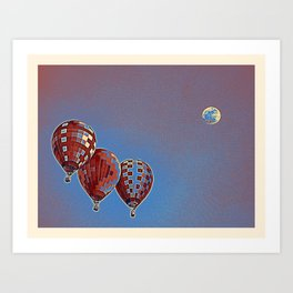 Air Balloons 5 Art Print