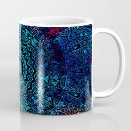 Bohemian Passion Blue & Red Mandala Design Coffee Mug