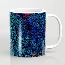 Mandala Passion Bohemian Spiritual Zen Blue Red Hippie Yoga Mantra Meditation Coffee Mug