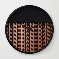 cunt Wall Clocks featuring CUNT by Beatricepl