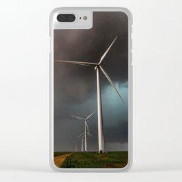 Wind Farm - Renewable Energy on the Texas Plains Clear iPhone Case