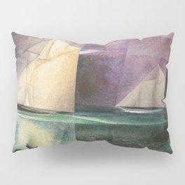 Sailing Yachts in Purple Twilight by Lyonel Feininger Pillow Sham