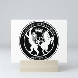MI6 Logo (Millitary Intelligence Section 6) Mini Art Print