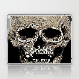 Full Skull With Rotting Flesh Vector Laptop & iPad Skin