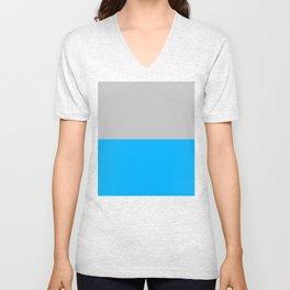 2-Tone Blue Unisex V-Neck