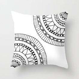 Bohemian Circle Sketch Throw Pillow