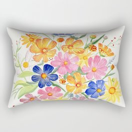 Loose Autumn Bouquet Rectangular Pillow