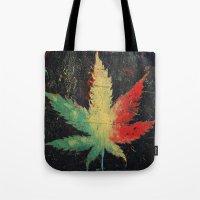 marijuana Tote Bags featuring Marijuana by Michael Creese
