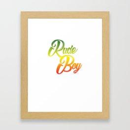 Jamaican Reggae Jamaica Rasta Roots Family Kids Children Gift Rude Boy  Framed Art Print