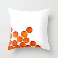 Crystal Balls Orange Throw Pillow