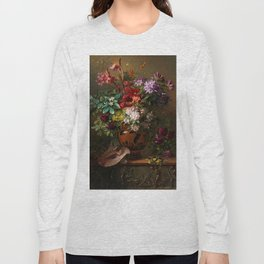 "George Jacobus Johannes van Os ""Still Life with Flowers in a Greek Vase Allegory of Spring"" Long Sleeve T-shirt"