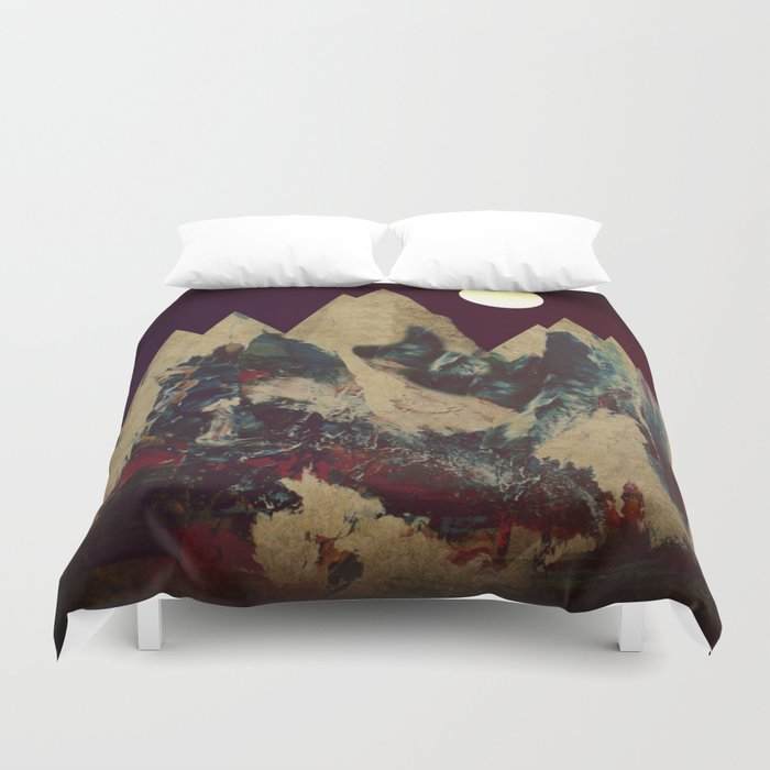 Cardboard Mountains Duvet Cover