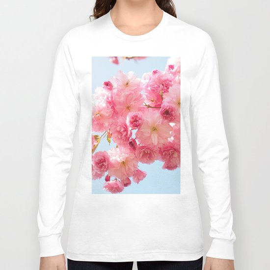 Cherry Blossoms in Pink Long Sleeve T-shirt