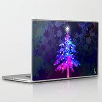 christmas tree Laptop & iPad Skins featuring Christmas Tree by tscreative