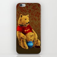 pooh iPhone & iPod Skins featuring Pooh by J ō v