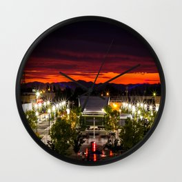 City scape /Medford OR Wall Clock