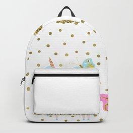 Pink & Gold Glitter Unicorn Backpack