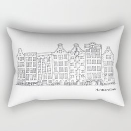 Amsterdam Streetscape Rectangular Pillow
