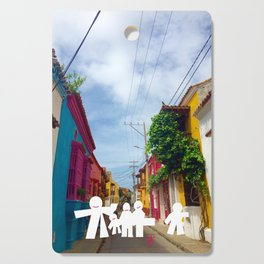 C for Cartagena Fun Cut Out Cartagena Street Print Cutting Board