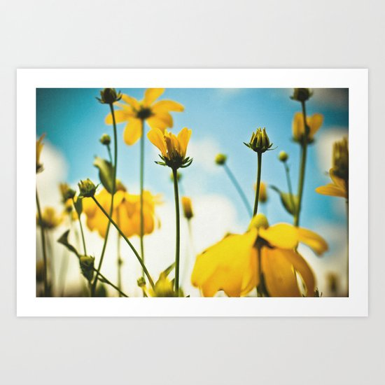 Happy day filled with sunshine Art Print