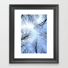 Black Trees Blue Sky Framed Art Print