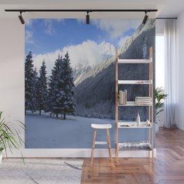 Alpine Winterscene Wall Mural